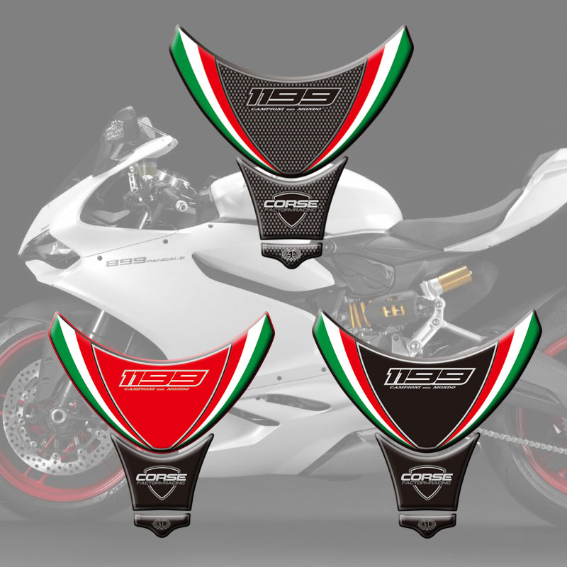 For Ducati Panigale 1199 2012 2013 2014 2015 Motorcycle Tank Sticker Decals 3D Tank Pad Fish Bone Sticker Tank Pad Protector