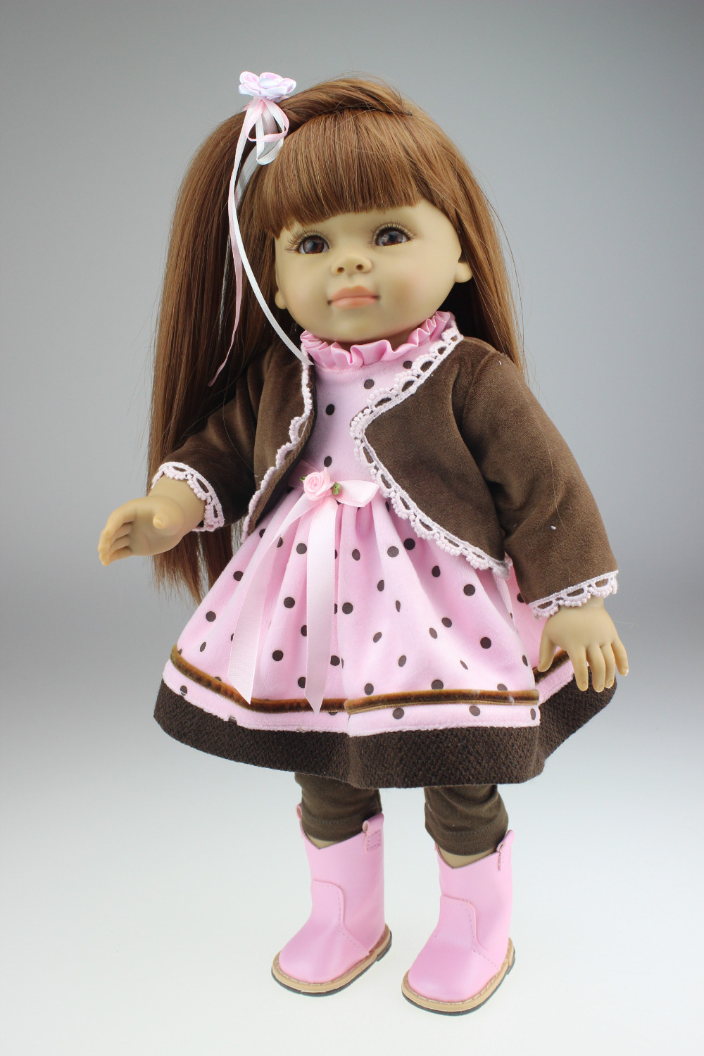 free shipping 18inches American girl doll Journey Girl Dollie& me fashion doll Christamas Gift great girl gift 2015new 18inches american girl doll journey girl dollie