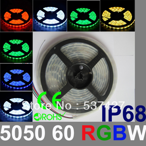 Фото IP68 Waterproof RGBW LED Strip Light Epistar Chip 5050 60 LED/Meter 2 years warranty,CE RoHS Certified, 5 Meter+1 Controler/Pack