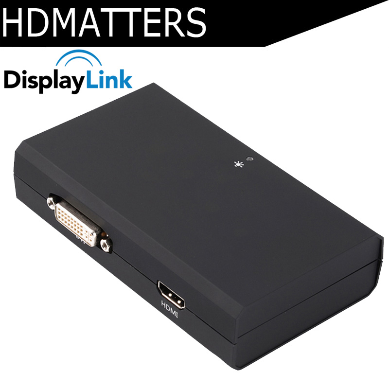 Displaylink Chipset USB 3.0 to HDMI/DVI converter Graphic Adapter Multi Display Cable 1080P for mac OS Macbook pro air Win8/7/10
