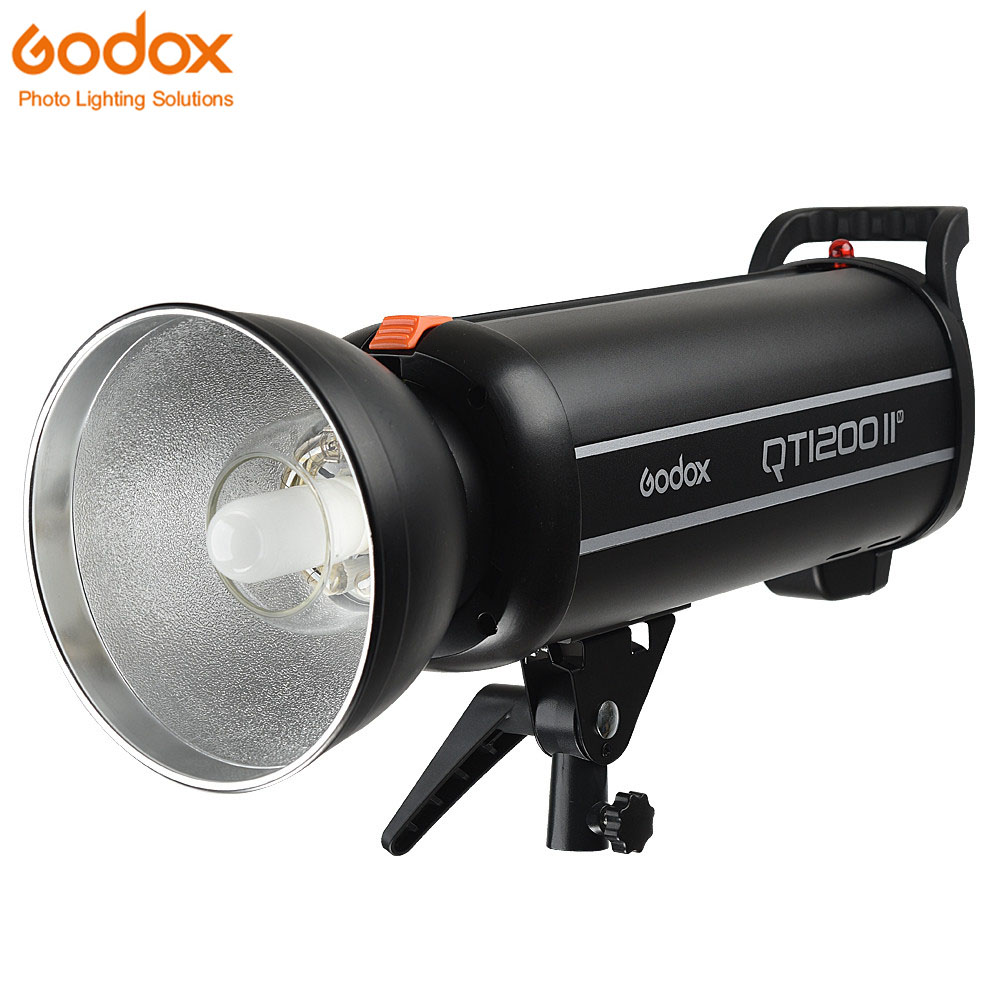 New Godox QT1200II 1200W 1200WS GN102 1/8000s High Speed Sync Flash Strobe Light with Built in 2.4G Wirless System godox qt 600iim qt600iim 600ws gn76 110v 1 8000s high speed sync flash strobe light with built in godox 2 4g wirless x system