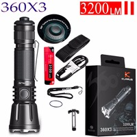 Klarus 360X3 360 degrees Tactical Flashlight CREE XHP70.2 max 3200 lumen throw 283 meter Micro USB Charging Port outdoor torch