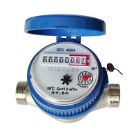 Water Meter 15mm 1/2 inch Cold Water Meter for Garden Home Using with Free Fittings Single Water Flow Dry Table Measuring Tools