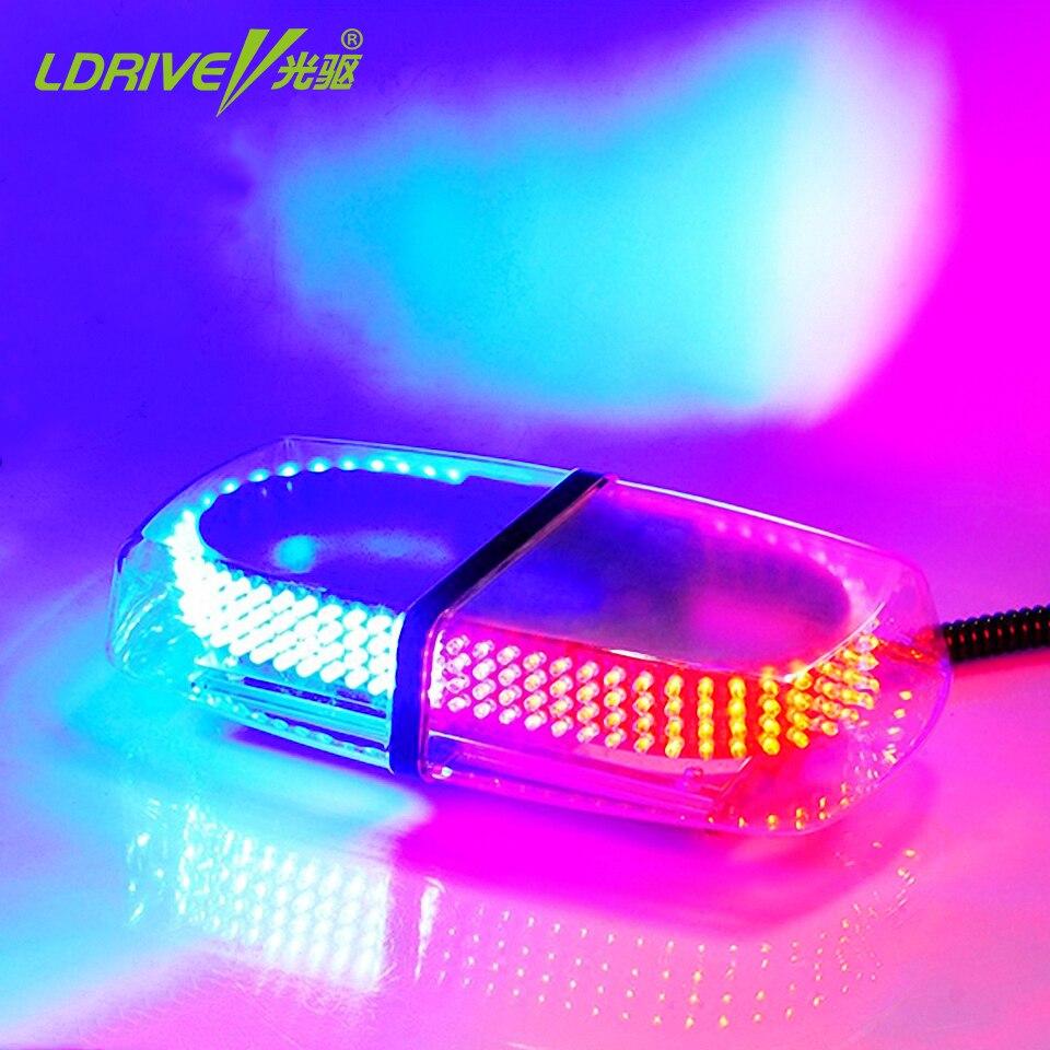 Lumière d'avertissement de stroboscope de toit de camion de voiture magnétique de 240 led 8 Modes lumières d'ambulance de Police d'urgence clignotantes rouge/jaune/rouge et bleu