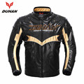 DUHAN Men's Winter Motocross Off-Road Racing Jacket Cotton Underwear Cold-proof PU Moto Jacket With Five Protector Guards