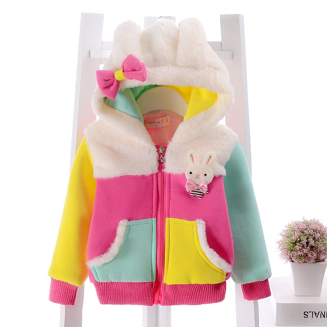2016 nuevas muchachas del otoño con capucha niñas otoño de manga larga 0-24 meses niños suéter con capucha de algodón de dibujos animados escudo