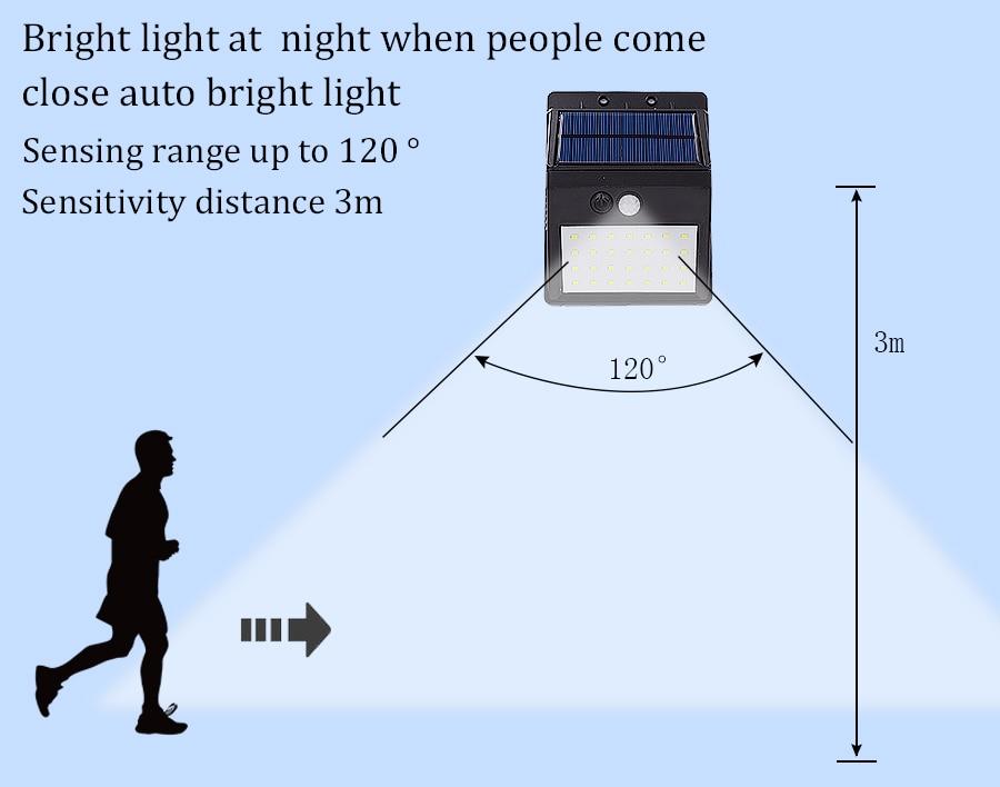 Luz LED exterior con sensor de movimiento