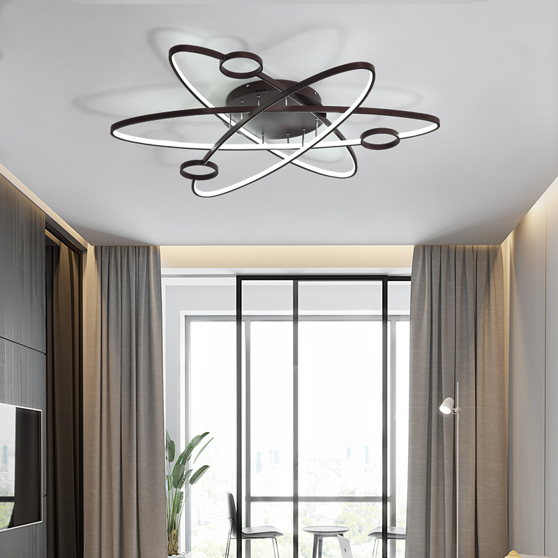 Image 3 - LICAN Modern Led Ceiling Lights For Living Room Study Room Bedroom Home Dec lamparas de techo Modern Led Dimming Ceiling Lamp-in Ceiling Lights from Lights & Lighting