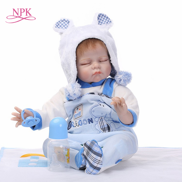 NPK reborn baby doll soft real touch 22inch sleeping baby doll lifelike kids birthday gift