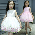 Elegant Kids Party Wear Dresses for Girls Princess Flower Lace Tutu Girl Dress Ceremonies Children Kid Evening Clothing CE100