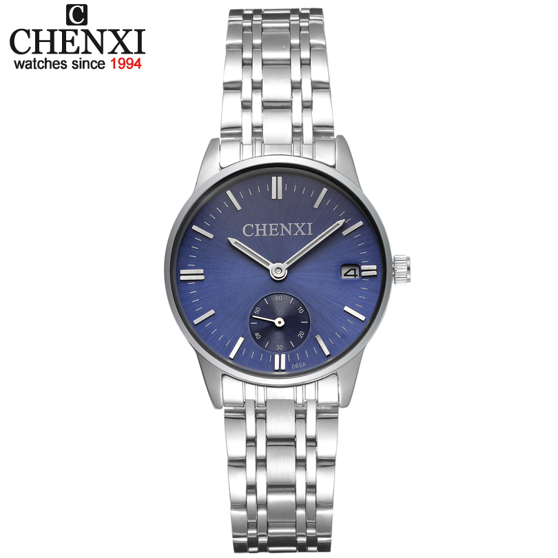 CHENXI Luxury Brand Women's Quartz Watches Date Clock Stainless Steel Watch Ladies Fashion Casual Quartz-Watch Women WristWatch chenxi fashion luxury quartz watch women dress stainless steel strap waterproof business casual ladies watches relogio feminino