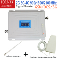 2G 3G 4G Signal Booster Cell Phone Booster gsm Repeater Mobile Phone GSM 900 DCS LTE 1800 WCDMA 2100 cellular Amplifier tir band