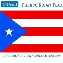 лучшая цена Free shipping 90*150cm 60*90cm 40*60cm 15*21cm Puerto Rican Flag Puerto Rico Polyestee Decorative Flag