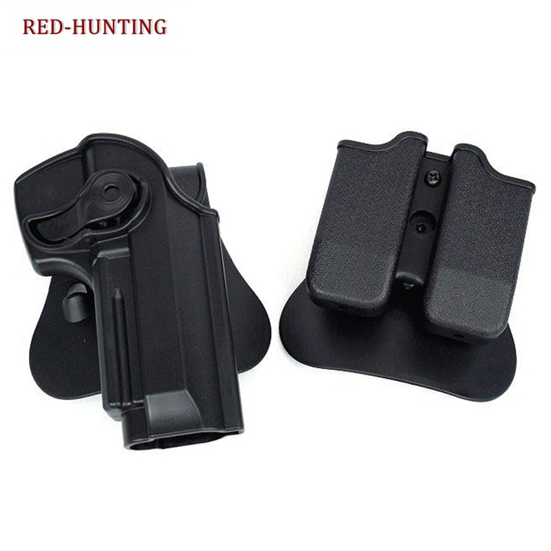 IMI Style Defense RetentionTactical Gun Holster for Taurus PT92 M92 M9 Handguns With Magazine Pouch