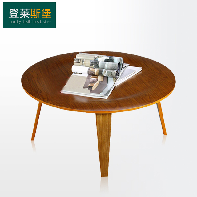 Denglai Myers Plywood Table Round Wooden Simple Wood Coffee Designer