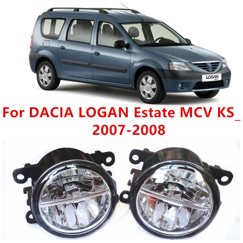 где купить For DACIA LOGAN Estate MCV KS_  2007-2008  10W Fog Light LED DRL Daytime Running Lights Car Styling lamps по лучшей цене