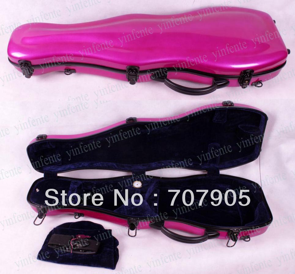 Здесь можно купить   New 4/4 Violin Glass fiber case Waterproof Light Durable Dropshipping Wholesale High quality Pink Спорт и развлечения