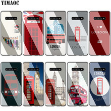 Lavaza london bus Inglaterra teléfono vidrio TPU funda para Samsung Note 8 9 S7 S8 S9 S10 A10 A20 A30 a40 A50 A60 A70 Edge Plus(China)