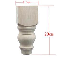 4 шт./лот 20x7.5 см стол из цельного дерева ногой стул дерево ножки футы