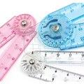 Qshoic midori paket mail japan midori farbe kunststoff transparent  flexible und praktische herrscher lineal winkelmesser-in Lineale aus Büro- und Schulmaterial bei