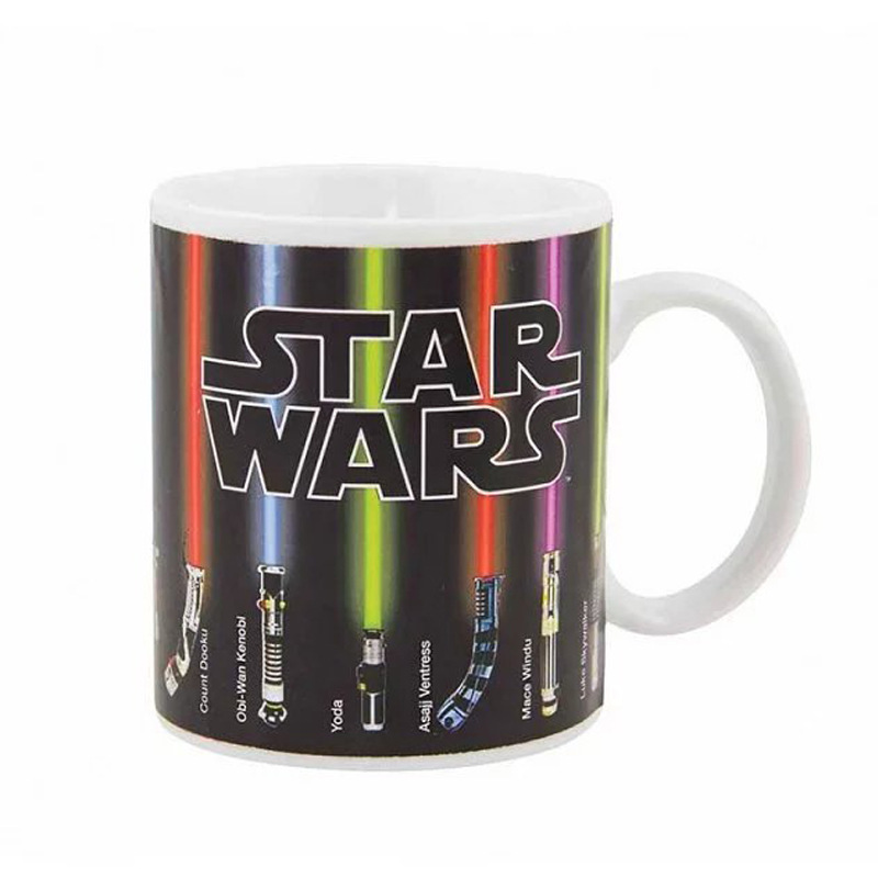 Star Wars 3D Mugs Colors Change Light Saber & Game Console Heat Reaction Ceramic Coffee Water Cups Home Drinking Canecas