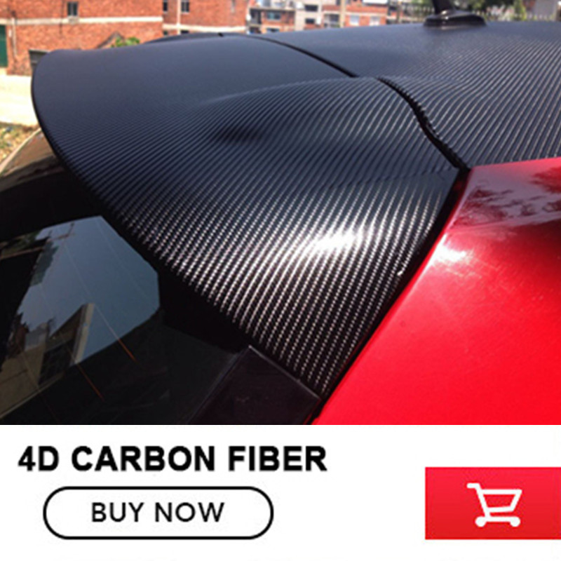 Car styling 1.52*30m 4D Carbon Fiber Vinyl Film Wrapping Sheet Roll Stickers Motorcyle for Automobiles Hood Roof Accessories epr car styling for nissan skyline r33 gtr type 2 carbon fiber hood bonnet lip
