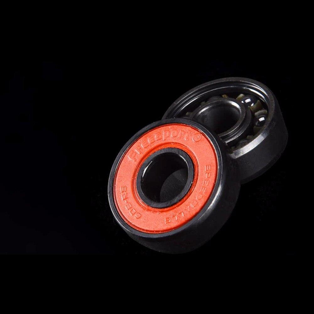 Купить с кэшбэком FreeSport 608 Hybrid Black Ceramic Bearings 7 Beads ABEC9 High Rev Rodamientos for Skateboard LongBoard inline Skate HandSpinner