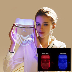 Red & Blue Light LED Facial Mask USB Phototherapy Skin Tightening Rejuvenate Shrink Pores Face lift Whitening Anti Wrinkle Spa