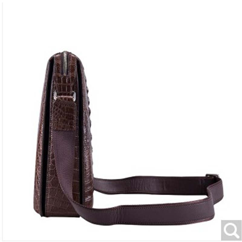Gusheng new crocodile skin single shoulder men bag male crocodile gator mans cross-bag business casual vertical leather bri