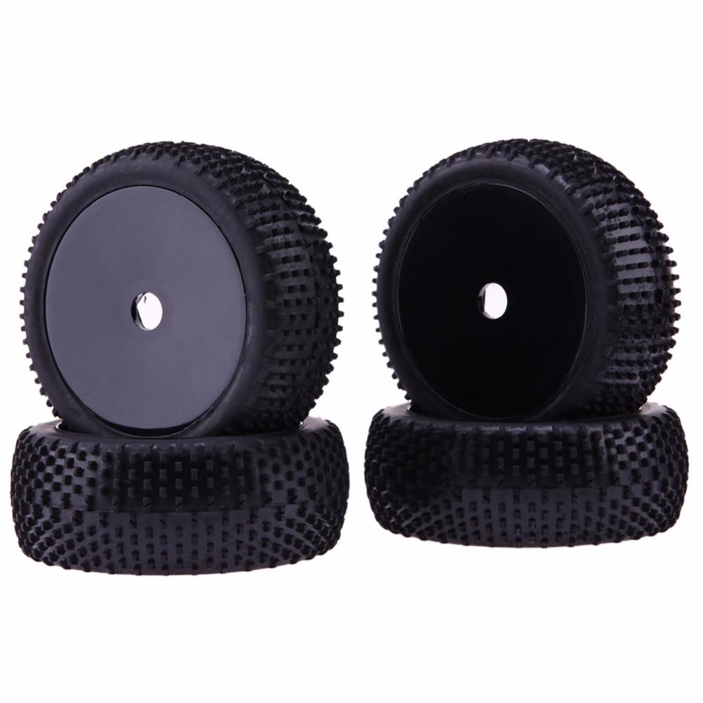 4pcs Rubber RC Run Flat Car Tires Black Wheel Rim for 1/8 Universal Car 4pcs lot universal piano wheel