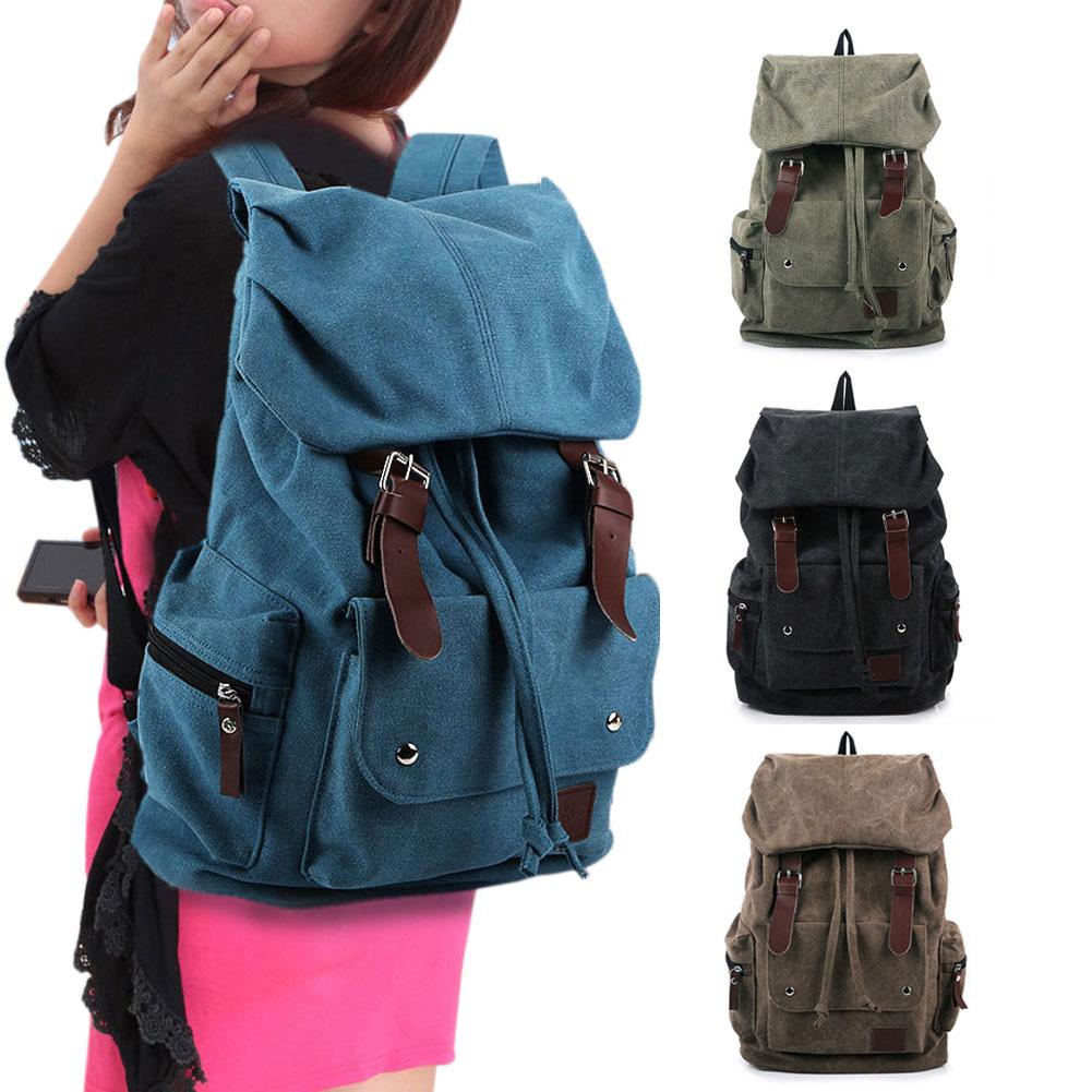 Vintage Fashion Canvas Leisure Travel School Bags Laptop Computers Unisex Backpacks Women Men Backpack 88 BS88