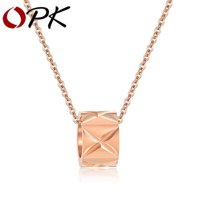OPK Chic Geometrical Coker Necklaces For Women Rose Gold Color 6