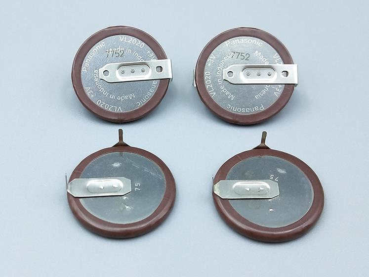 5pcs lot For PANASONIC VL2020 3V Car Key Fobs Rechargeable 90 degrees fillet lithium button coin