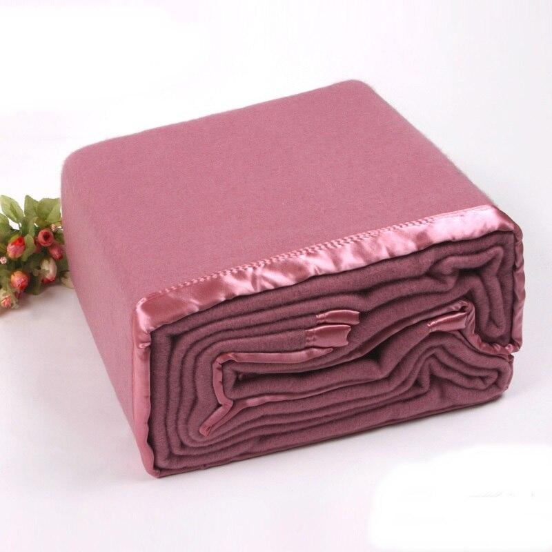 Lã australiana cobertor lance Todas As Estações Adequado para Adultos e Crianças 150 cm x 200 cm rosa 1.65 kg - 2