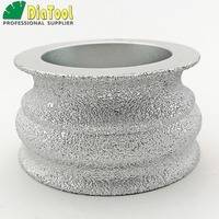 DIATOOL Dia75mmX40mm Diamond Profile Grinding Wheel For Stone, Used On Angle Grinder