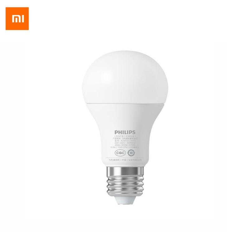 Orijinal Xiaomi Philips Akıllı LED Ampul Top Lamba WiFi Uzaktan Kumanda ile Xiaomi Mi Ev APP Standart E27 Ampul 6.5 W 0.1A