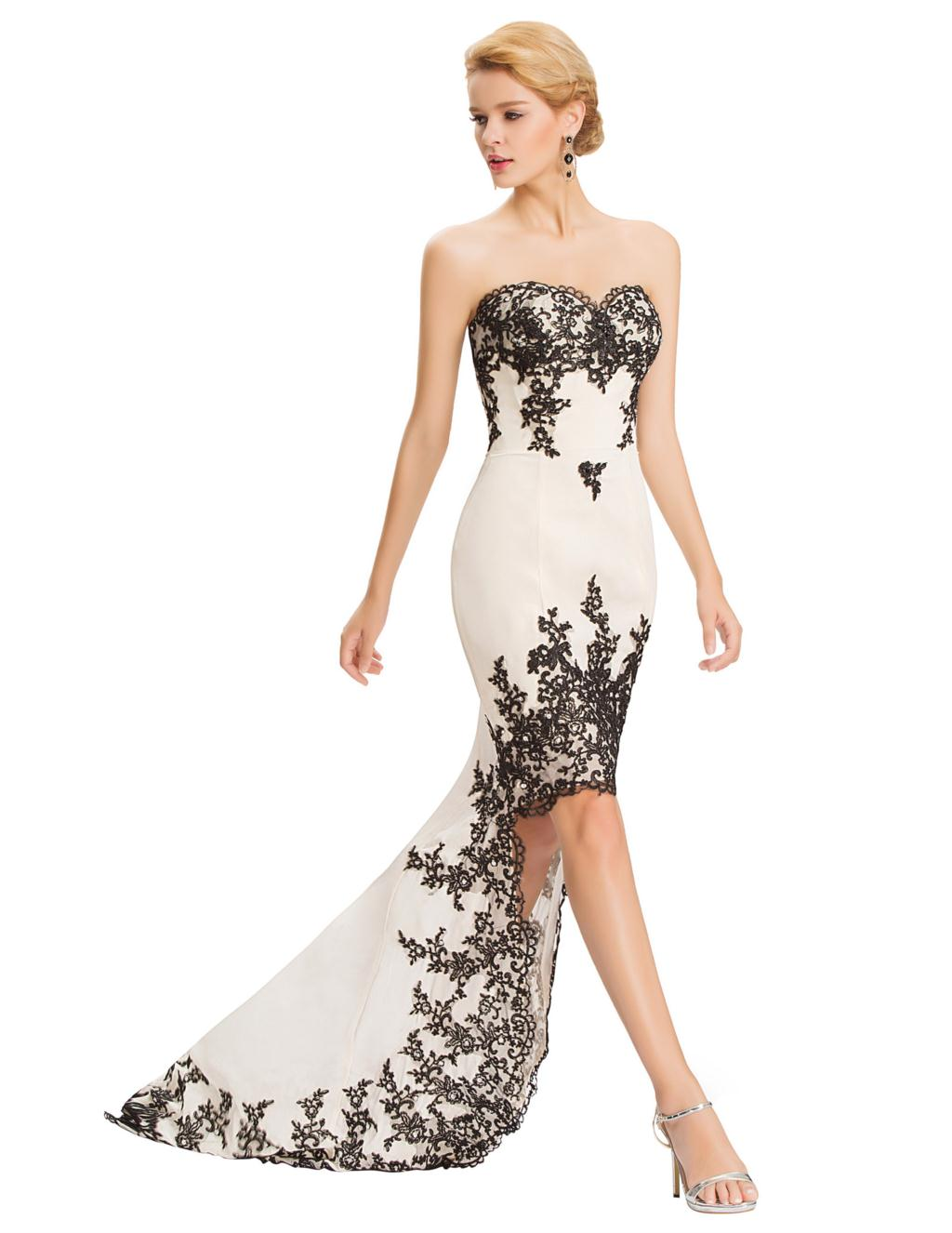 White dress long back short front top