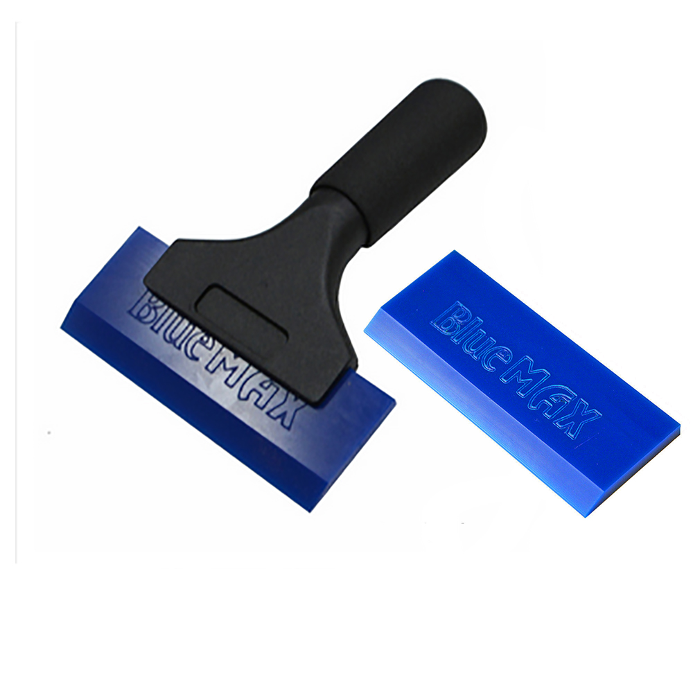 Pro Blue Max Vinyl Squeegee Scraper with Rubber Blades Auto Film Wrapping Tools