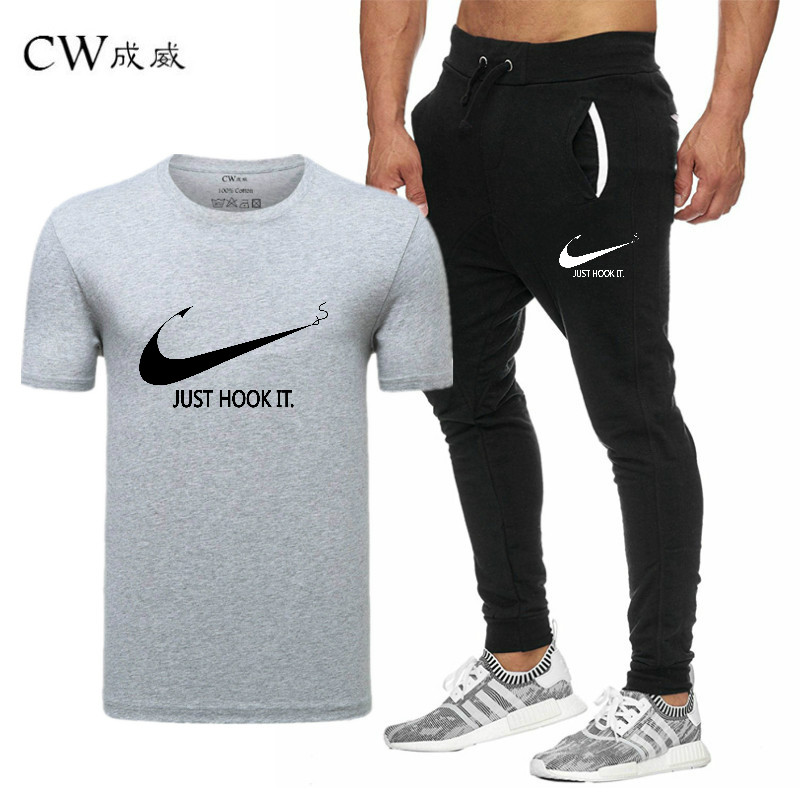 HTB1XeKtVCzqK1RjSZFpq6ykSXXaz 2019 Quality Men T Shirt Sets+pants men Brand clothing Two piece suit tracksuit Fashion Casual Tshirts Gyms Workout Fitness Sets