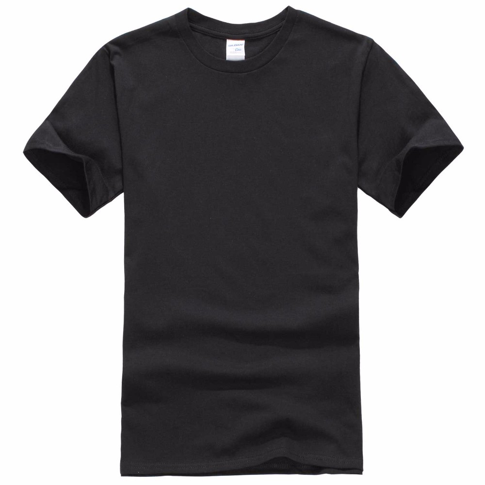 2018New Solid color T Shirt Mens Black And White 100% cotton T-shirts Summer Skateboard Tee Boy Skate Tshirt Tops