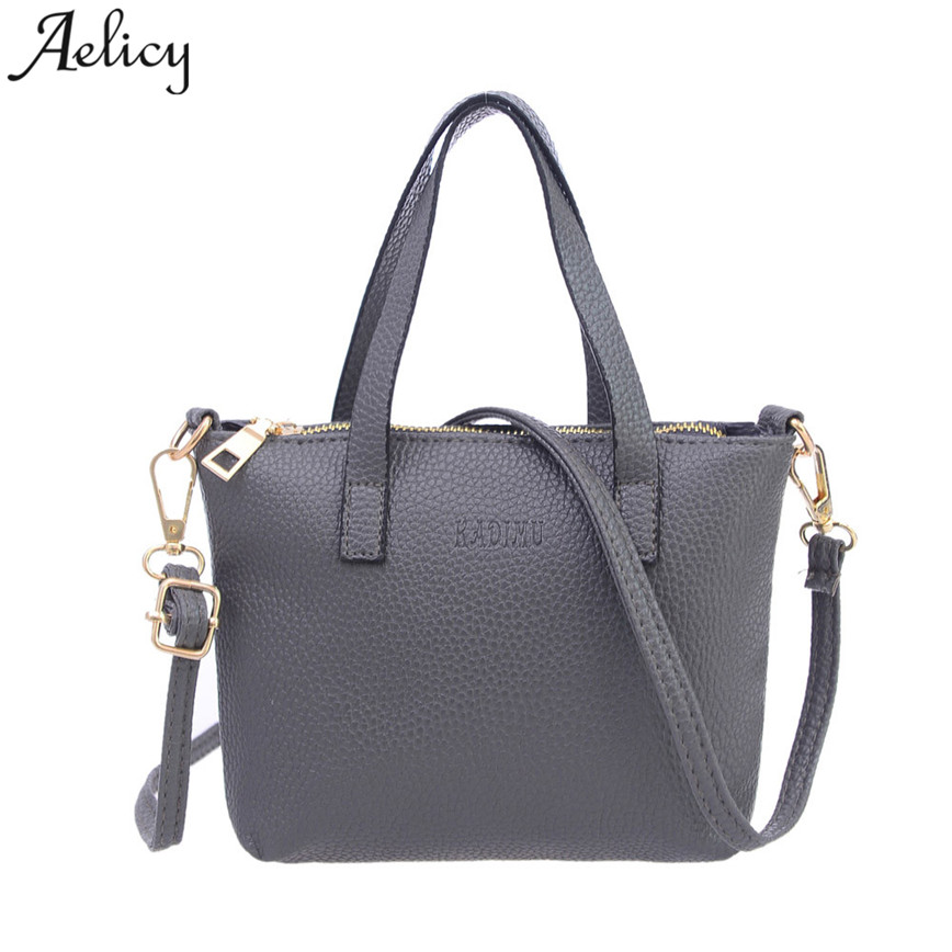 Aelicy Small Shoulder Bag Women Soft PU Leather Zipper Shoulder Bags Female Casual High  ...