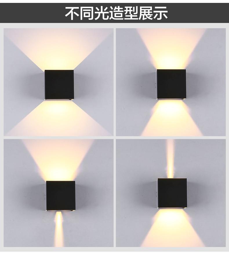 L Outdoor wall light LED Modern minimalist LED wall lamp aluminum living room bedroom aisle lights creative bathroom bathroom