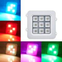 9W 16W 220V Ceiling LED Strobe Lamp Flashing light Di Bar KTV Home Sound Control Stage Light Effect