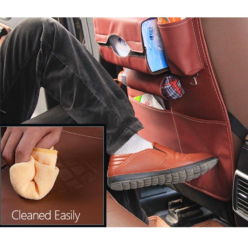 Nieuw design Autostoel opbergtas Meer groot dik leder Auto autostoel - Auto-interieur accessoires - Foto 4