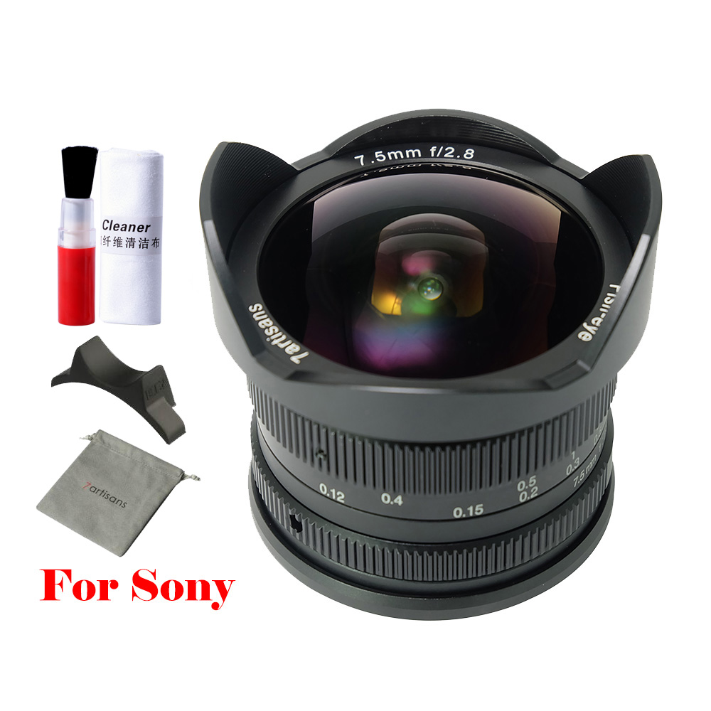 7artisans 7 5mm f2 8 fisheye Prime lens 180 APS C Manual Fixed Prime Lens For