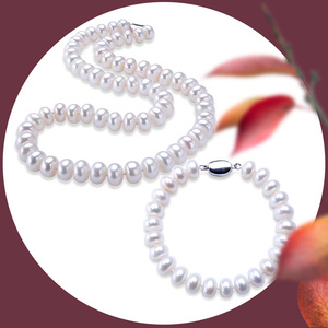 Image 5 - LINDO Amazing price AAAA high quality natural freshwater pearl necklace for women 3 colors 8 9mm pearl jewelry 45cm