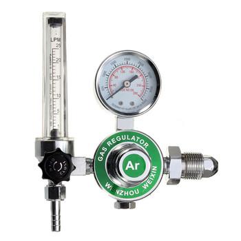 Wysokiej jakości ARGON metromierz AR CO2 gazu MIG TIG Regulator przepływu manometr Mini ciśnienie skrajni używane do spawania lub MAG tanie i dobre opinie Niskiego ciśnienia manual HN240 BRASS Normalna temperatura 5 8 Reduktor ciśnienia Standardowy