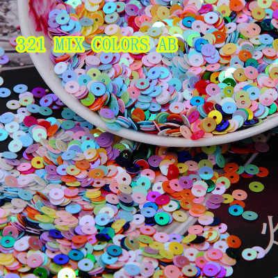 50 г (10000 шт) 4 мм, плоские круглые свободные блестки раззноцветные часы ПВХ блестки DIY аксессуары для рукоделия смешанные AB цвета конфетти