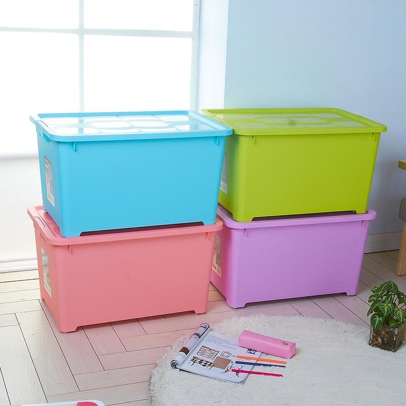 King sellado de pl stico caja de almacenamiento de for Cajas plasticas con ruedas