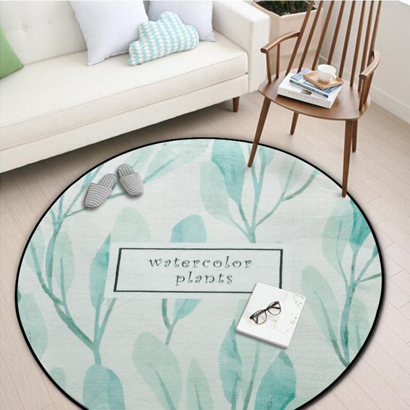 LIU Painting plants round entrance door mat bathroom bedroom carpet kitchen windows and non slip kids mat computer chair rug